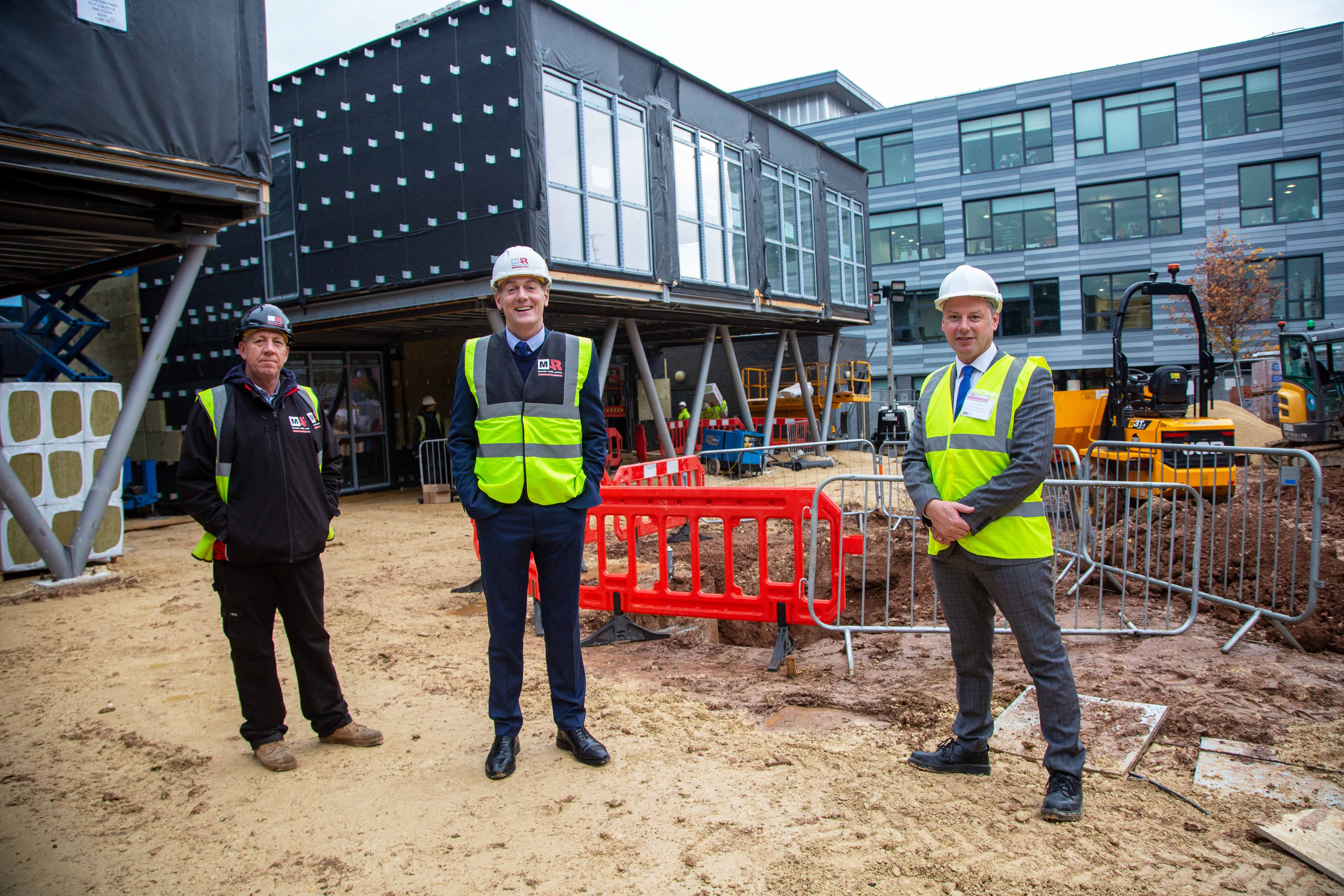 Andy Preston Middlesbrough Mayor visits M-AR modular offices at BoHo 8 campus